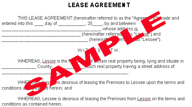 Residential Lease Agreement Template – Lease Agreement Contract